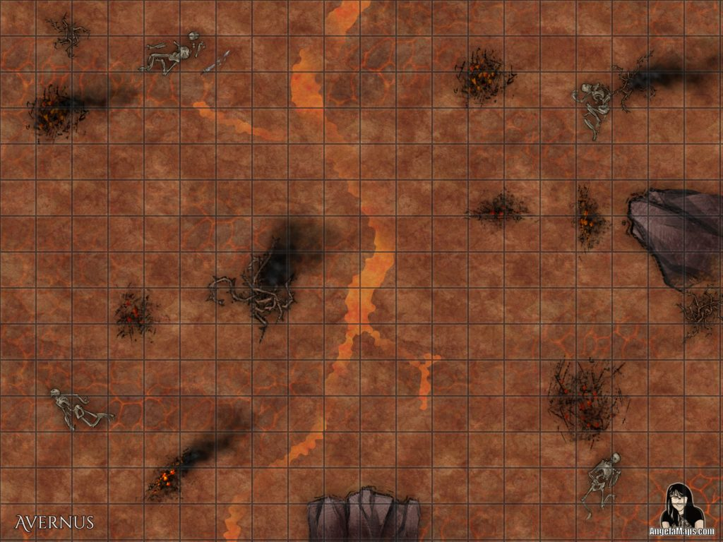 Avernus first of the nine hells battle map for D&D
