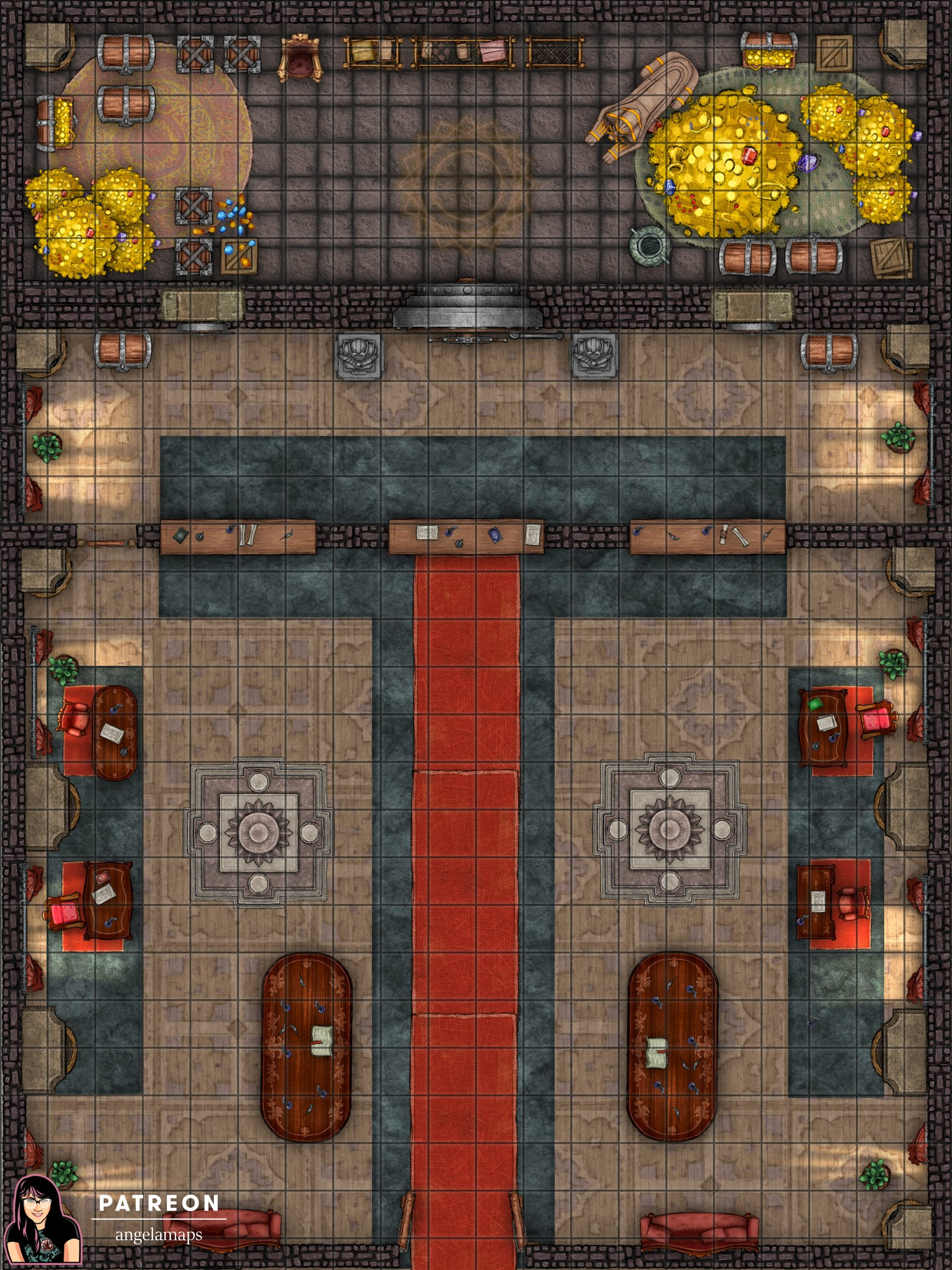 Bank battle map for D&D or Pathfinder with fantasy grounds support