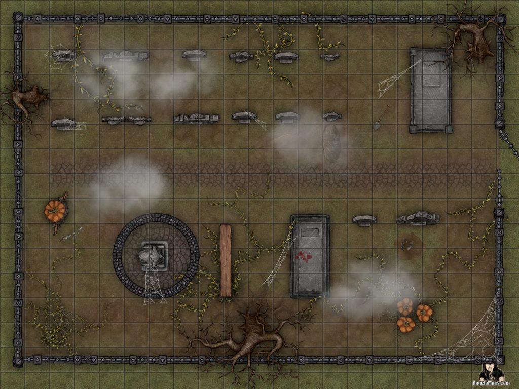 Halloween battle map for D&D