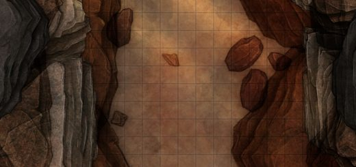 Deep canyon battle map encounter for TTRPGs like D&D or pathfinder
