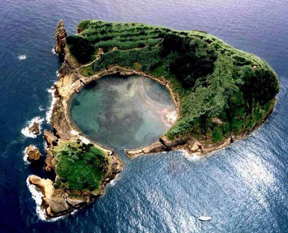 islet of vila franca do campo in the island of sao miguel