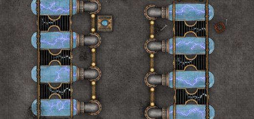 Power plant battle map high tech encounter