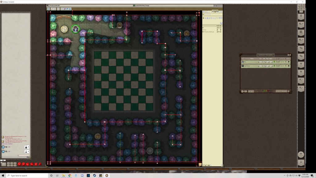 Line of Sight in Fantasy Grounds maze map