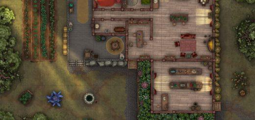 Healer's home encounter map for TTPRGs