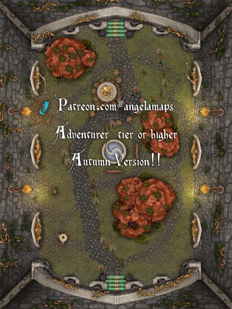 The queen's courtyard elven battle map