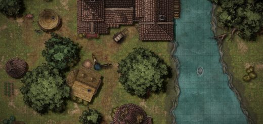 Riverside Mill Battle Map for D&D
