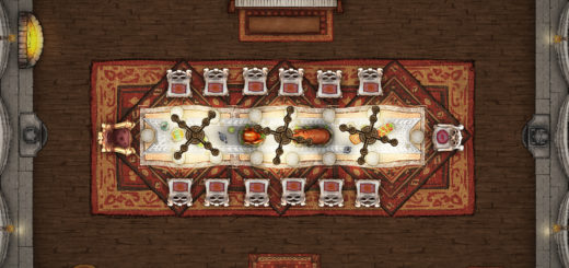 Curse of Strahd dining room map