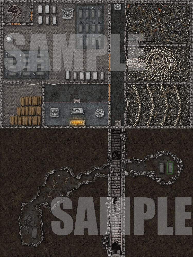Hidden tomb battle map