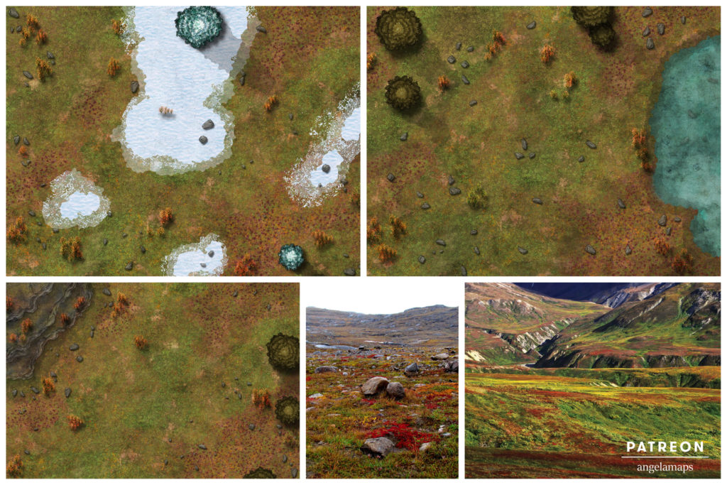 Tundra arctic battle map for D&D