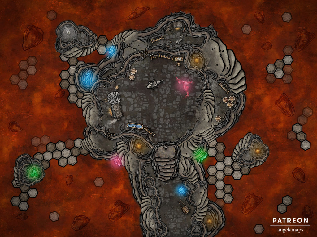 Magical forge D&D battle map with support for FVTT and FGU