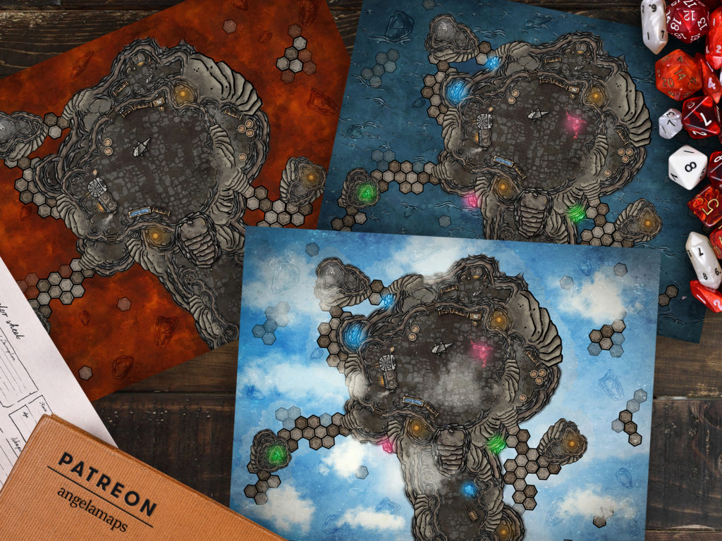 Magical Forge available in four versions as a D&D battlemap, animated for FVTT or setup with FGU