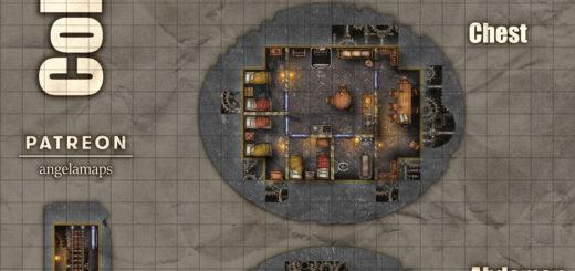 Giant warforged colossus map - six floors - D&D Eberron epic map