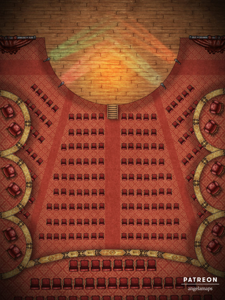 Opera house battle map for D&D and Pathfinder