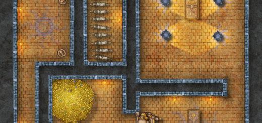Pharaoh's tomb battle map for D&D