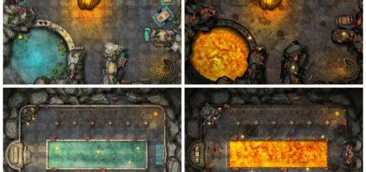 Beauty goddess temple map for D&D