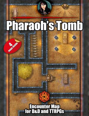 Pharaoh's Tomb battle map for Foundry VTT