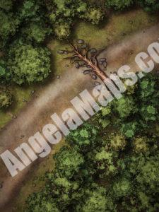 Ambush on the road battle map for D&D