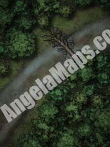 Ambush at night D&D battle map