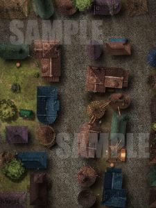 Run down city streets D&D battle map