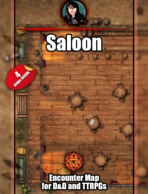 Saloon map pack for D&D with Foundry VTT support