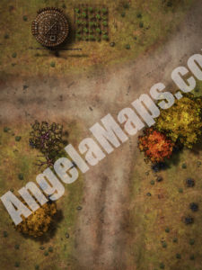 Crossroads battle map for D&D