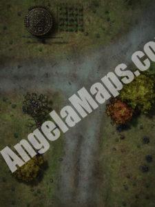 Night time crossroads D&D battlempa