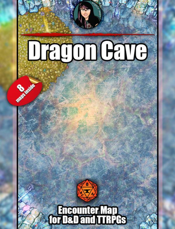 Angela Maps Dragon Cave D&D battle map pack