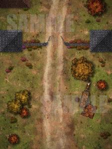 Simple city gate battlemap for D&D