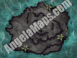 D&D ashen island battle map encounter