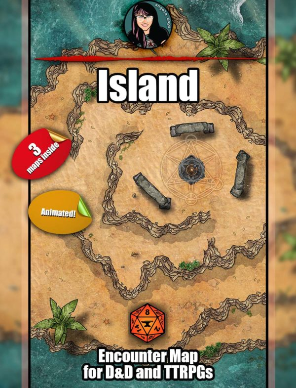 Island battle map pack for D&D with Foundry VTT support