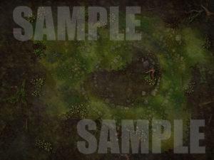 Swamp battle map for D&D