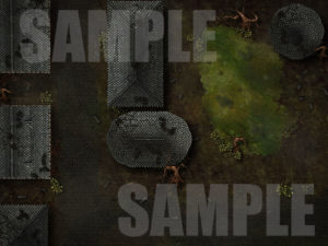 Minauros swampy battle map for D&D