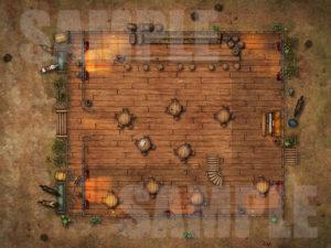 Western style saloon battlemap D&D encounter