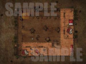 Trashed upstairs D&D battlemap