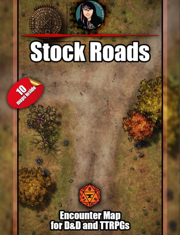 Stock roads battlemap pack with Foundry VTT support