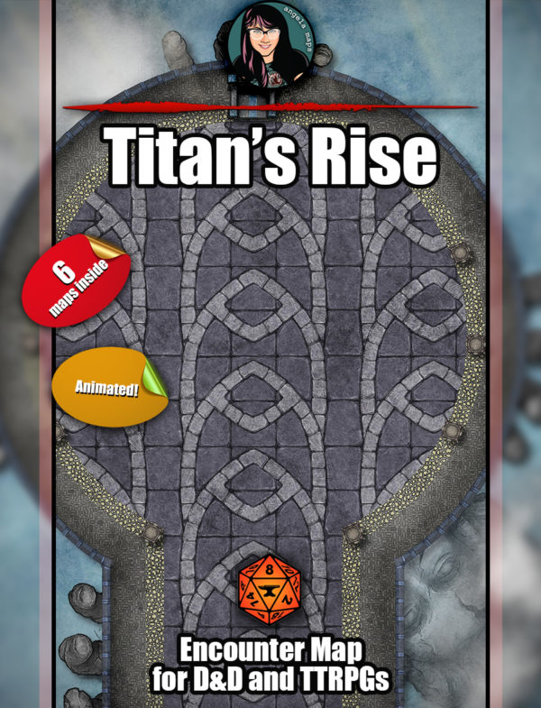 Titan's Rise battle map pack for D&D on Foundry VTT