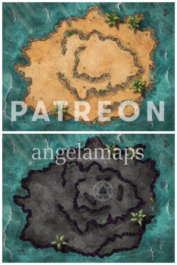 Island battle maps for D&D - animated and Foundry VTT ready