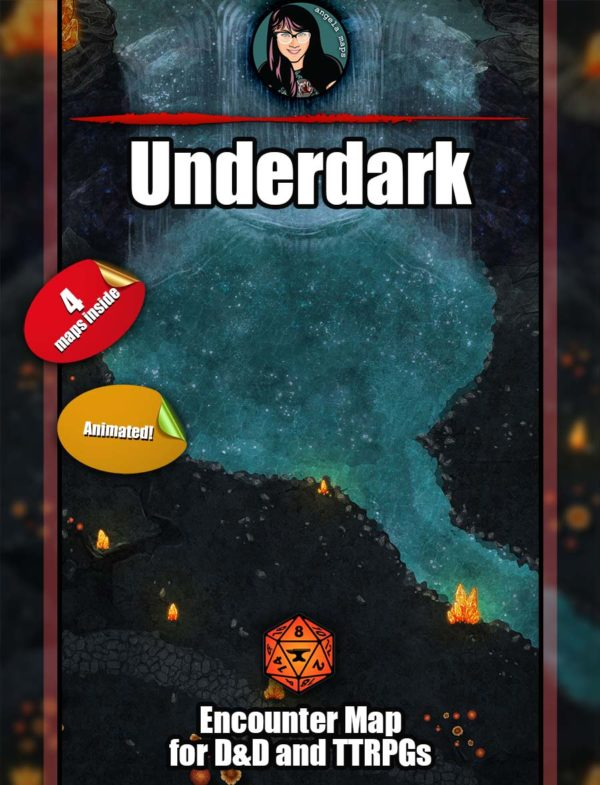 D&D underdark battle map with animated maps for Foundry VTT