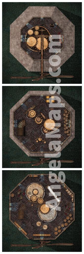 Evil mill battle map - Old Bonegrinder perhaps - D&D Battlemap