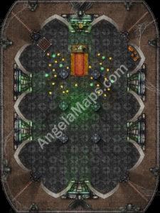 Halloween gothic battle map