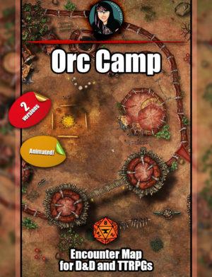 Orc Camp battle map
