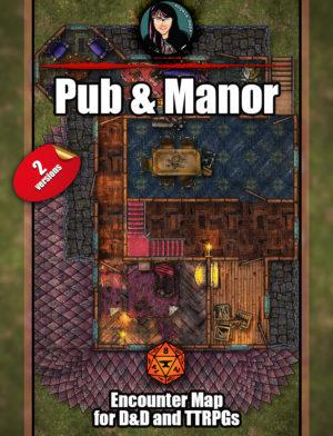 Trollskull Manor & Pub - 5 floors - 2 verions - D&D Battlemap