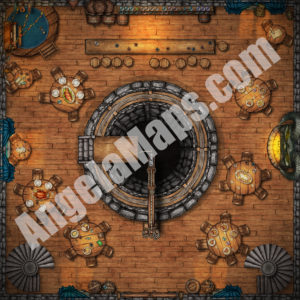 The Yawning portal (first of three floors) battle map in D&D Waterdeep