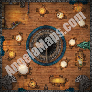The Yawning portal (second of three floors) battle map in D&D Waterdeep