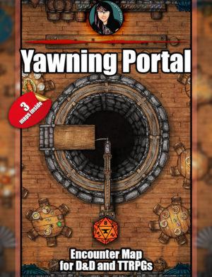 The Yawning Portal - famous Waterdeep inn, D&D Battlemap